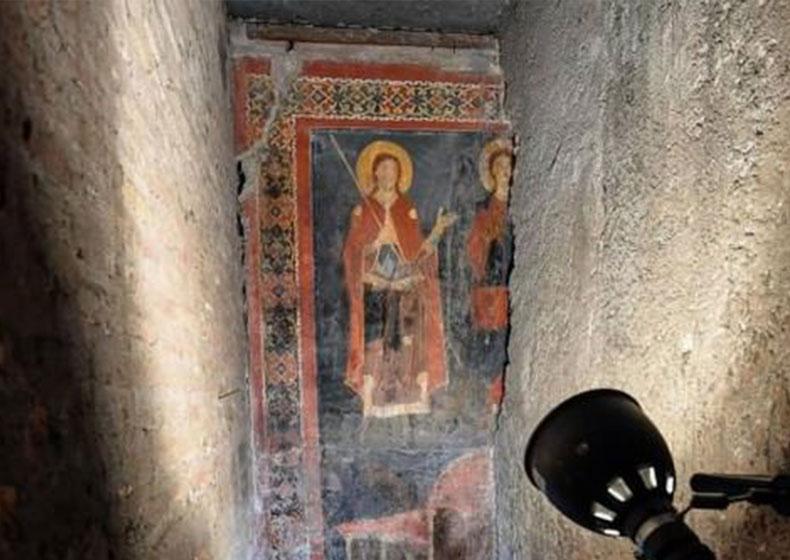 Roma, eccezionale affresco medievale ritrovato intatto dopo 900 anni