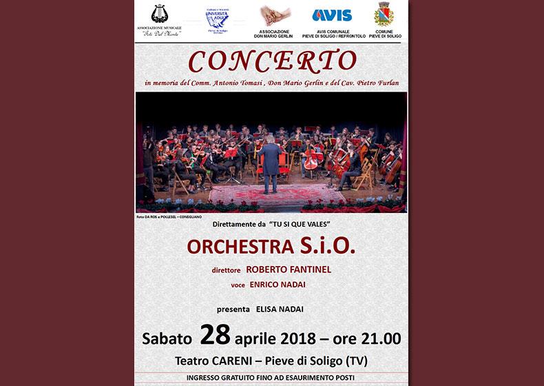 Enrico Nadai e l'Orchestra S.i.O. in Concerto a Pieve di Soligo