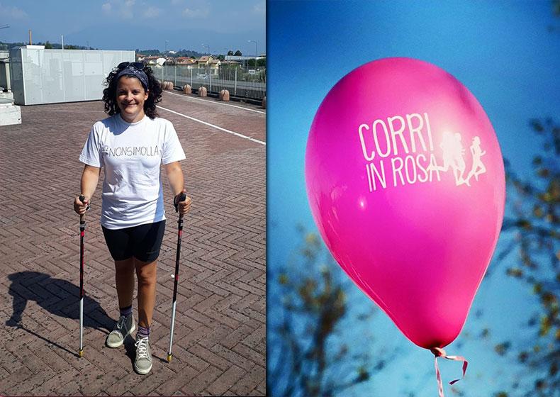 Elena: dalla carrozzina al nordic walking per la Corri in Rosa
