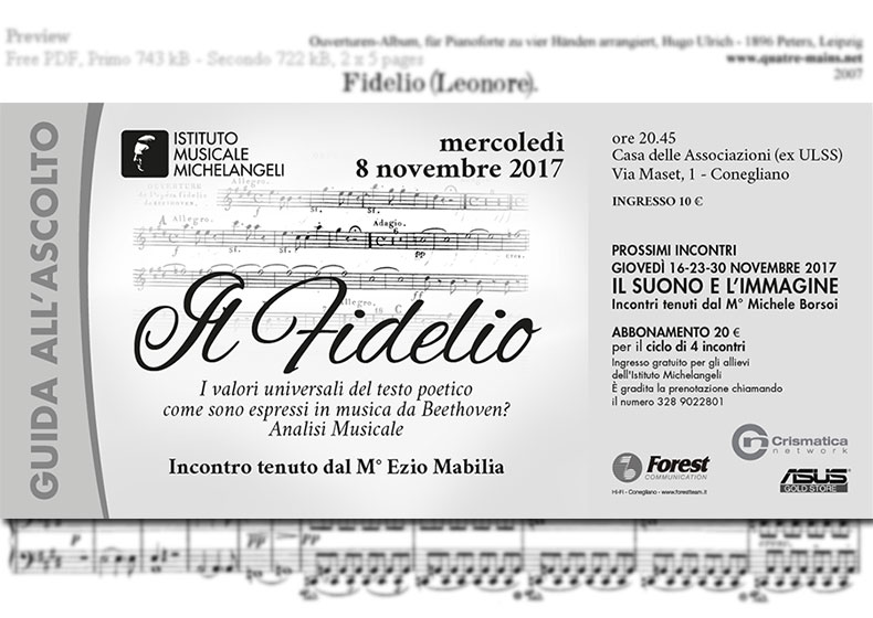 """Il """"Fidelio"""" di Ludwig van Beethoven: i valori universali del testo poetico in Musica"""