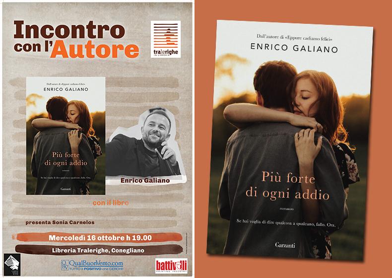 """Enrico Galiano a Tralerighe con """"Più forte di ogni addio"""""""