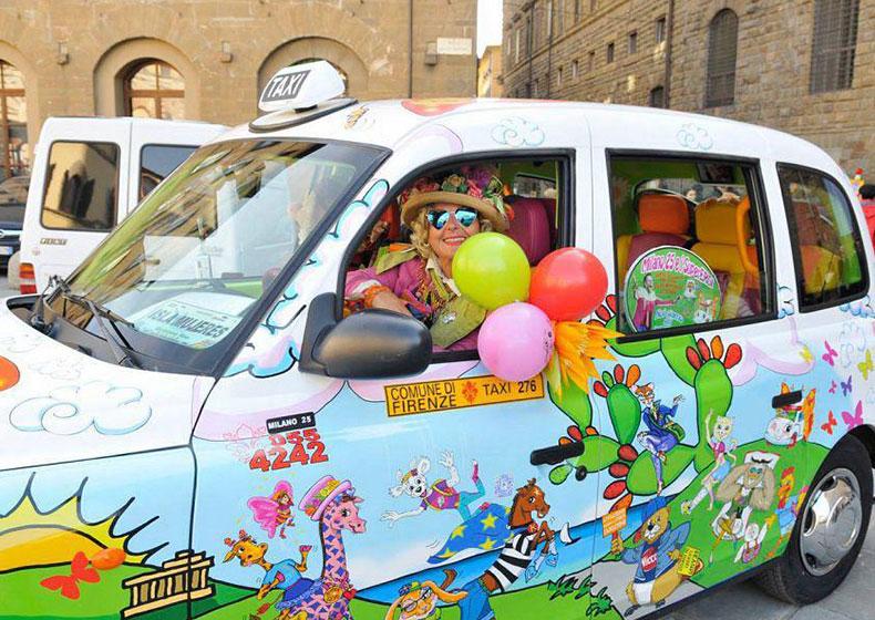 Zia Caterina arriva a Oderzo con il suo taxi ricco d'amore
